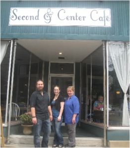 Second & Centre Cafe Josh, Erica and Andrea Evans