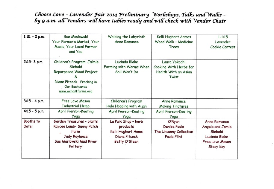 Lavender Fair 2014 5-18 Workshops p.2