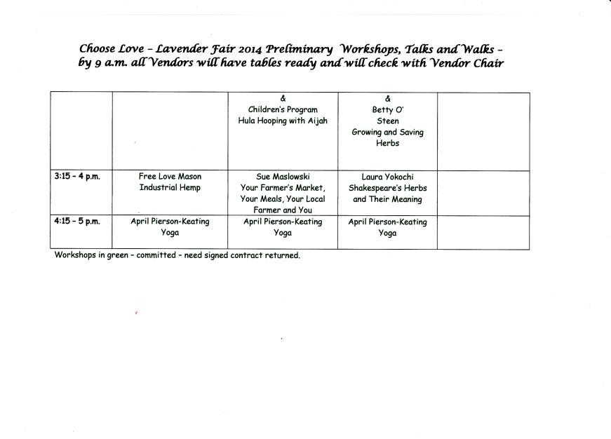 Lavender Fair 2014 Workshops p.4