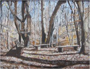 Painting La Paix Woods in Winter