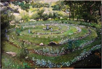 Painting Labyrinth at La Paix