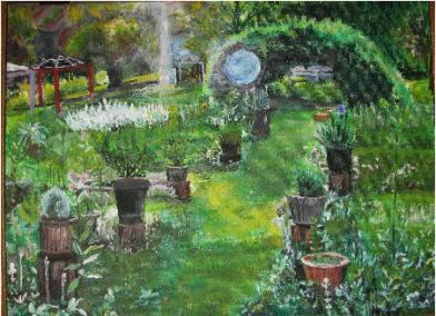 Painting Morning Light in Big Fragrant Garden
